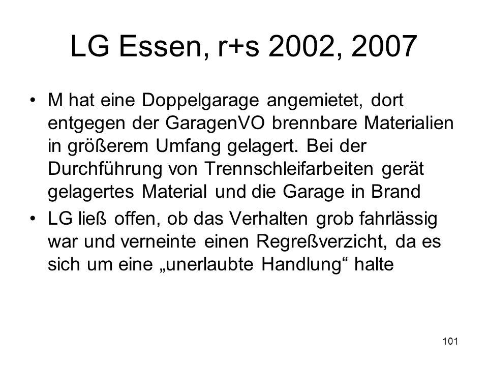 LG Essen, r+s 2002, 2007