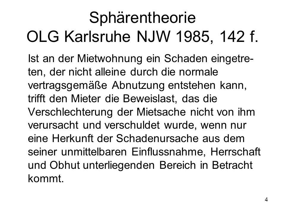 Sphärentheorie OLG Karlsruhe NJW 1985, 142 f.