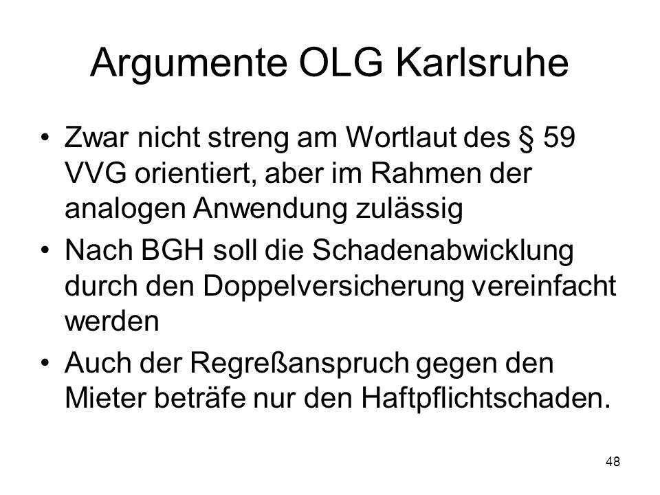 Argumente OLG Karlsruhe