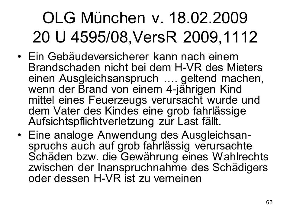 OLG München v. 18.02.2009 20 U 4595/08,VersR 2009,1112