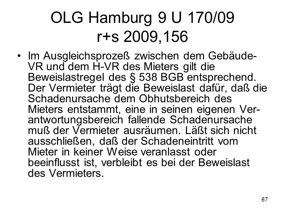 OLG Hamburg 9 U 170/09 r+s 2009,156