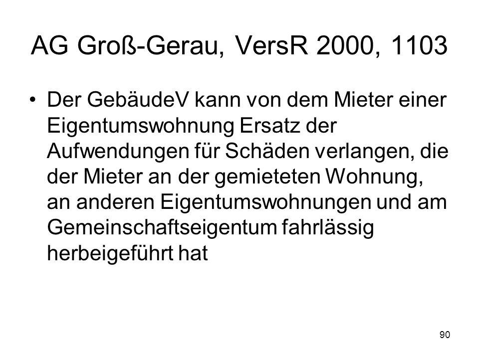 AG Groß-Gerau, VersR 2000, 1103