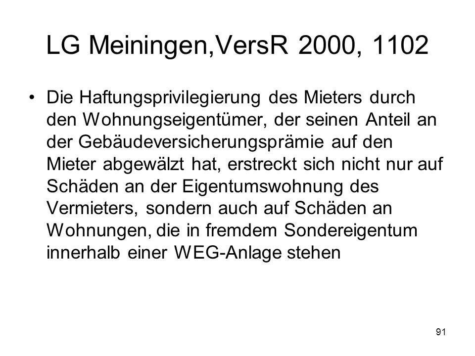 LG Meiningen,VersR 2000, 1102