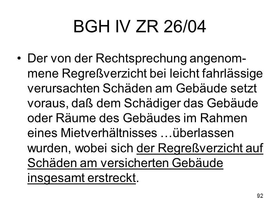 BGH IV ZR 26/04