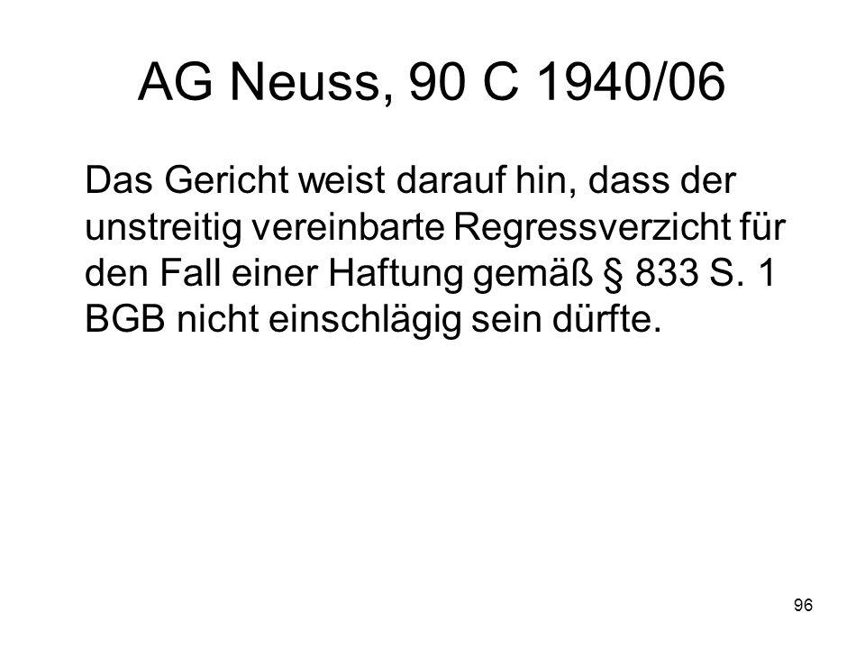 AG Neuss, 90 C 1940/06