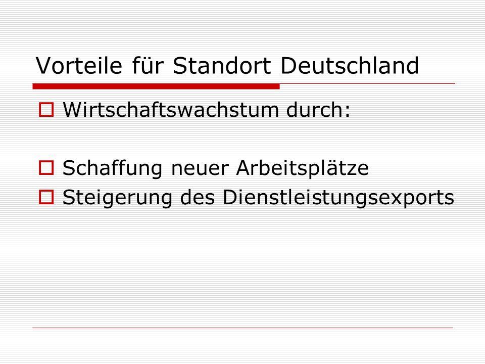 Vorteile für Standort Deutschland