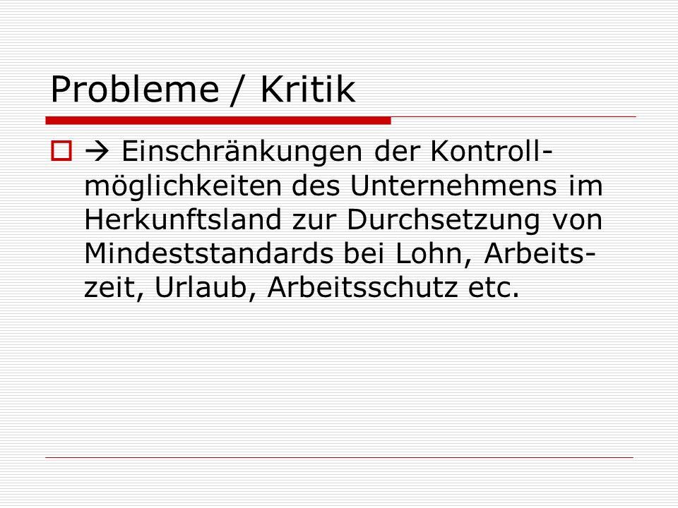 Probleme / Kritik