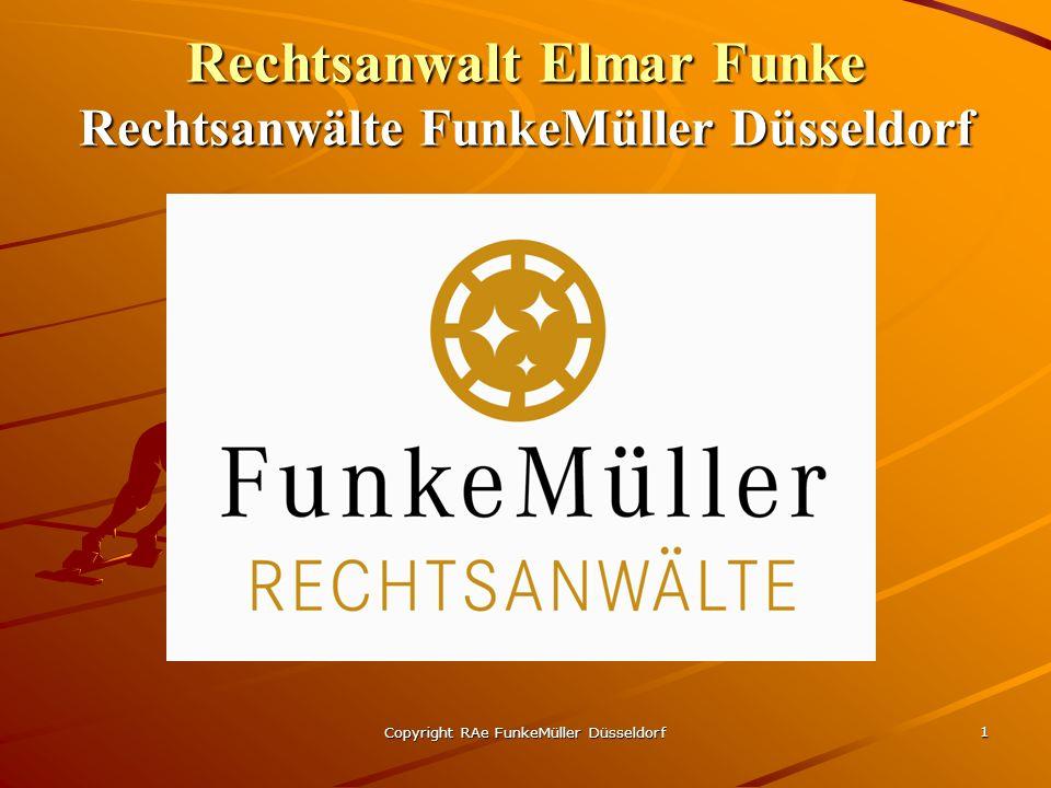Rechtsanwalt Elmar Funke Rechtsanwälte FunkeMüller Düsseldorf