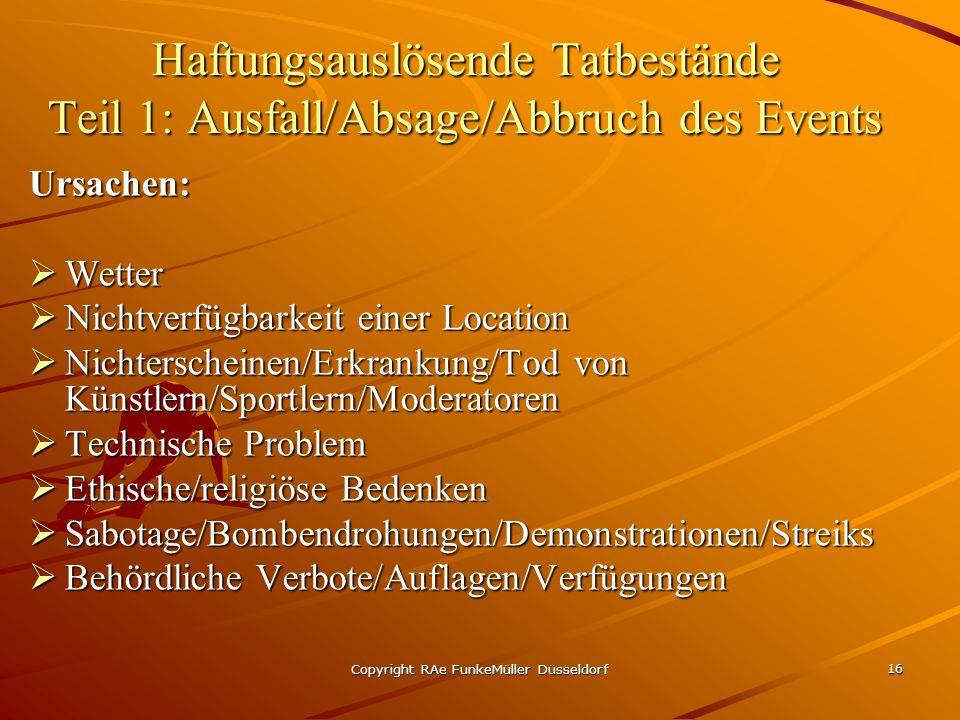 Copyright RAe FunkeMüller Düsseldorf