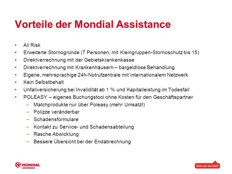 Vorteile der Mondial Assistance