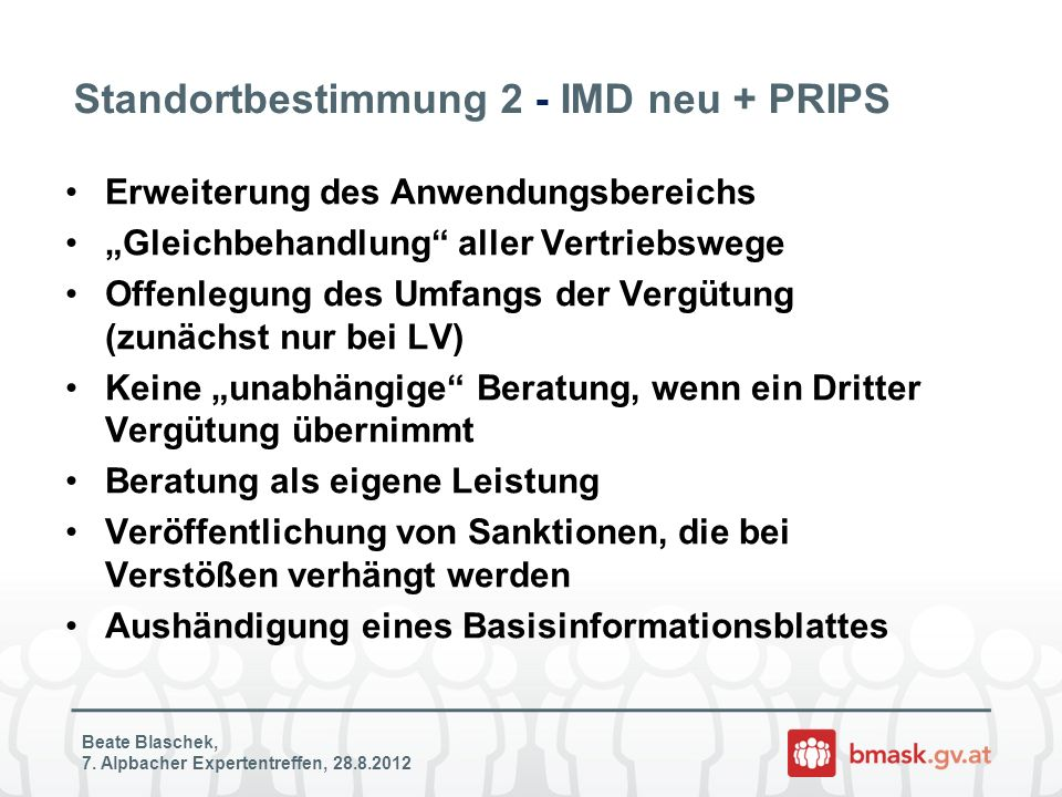 Standortbestimmung 2 - IMD neu + PRIPS