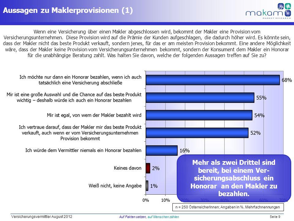 Aussagen zu Maklerprovisionen (1)