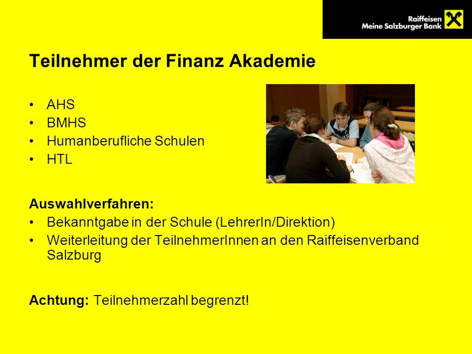 Teilnehmer der Finanz Akademie