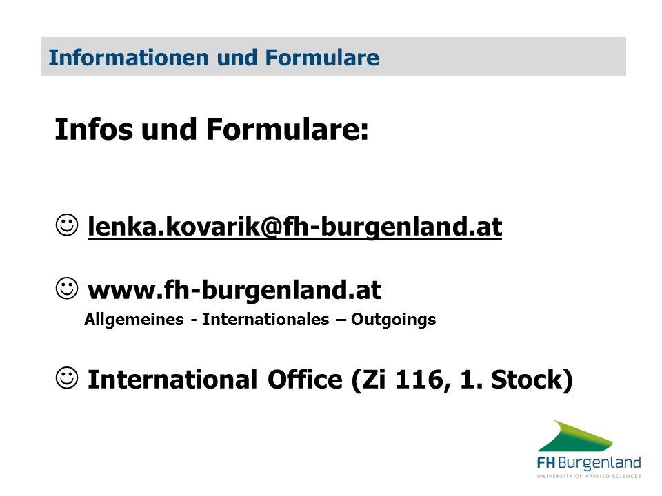 Informationen und Formulare