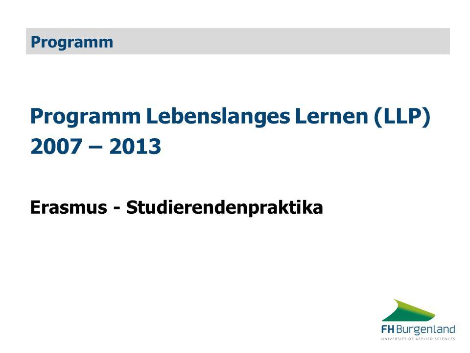 Programm Lebenslanges Lernen (LLP) 2007 – 2013