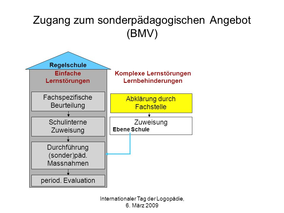 Zugang zum sonderpädagogischen Angebot (BMV)