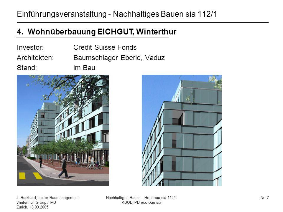 Einführungsveranstaltung - Nachhaltiges Bauen sia 112/1