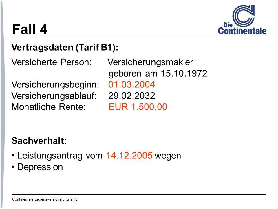 Fall 4 Vertragsdaten (Tarif B1):