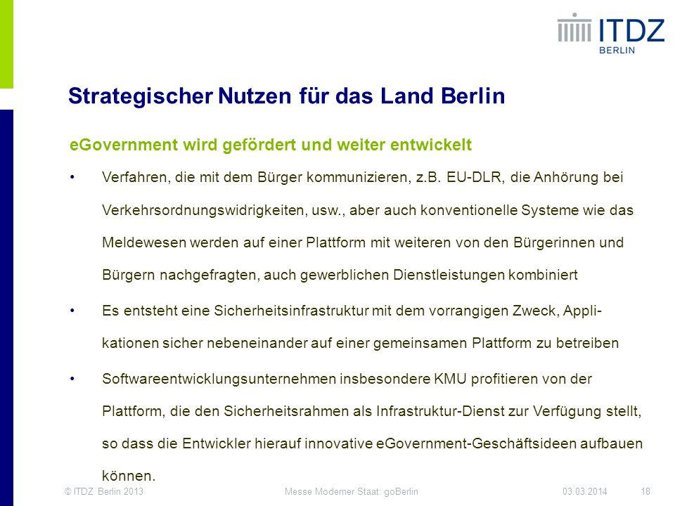 Strategischer Nutzen für das Land Berlin