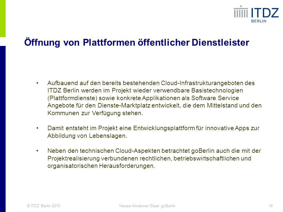 Öffnung von Plattformen öffentlicher Dienstleister