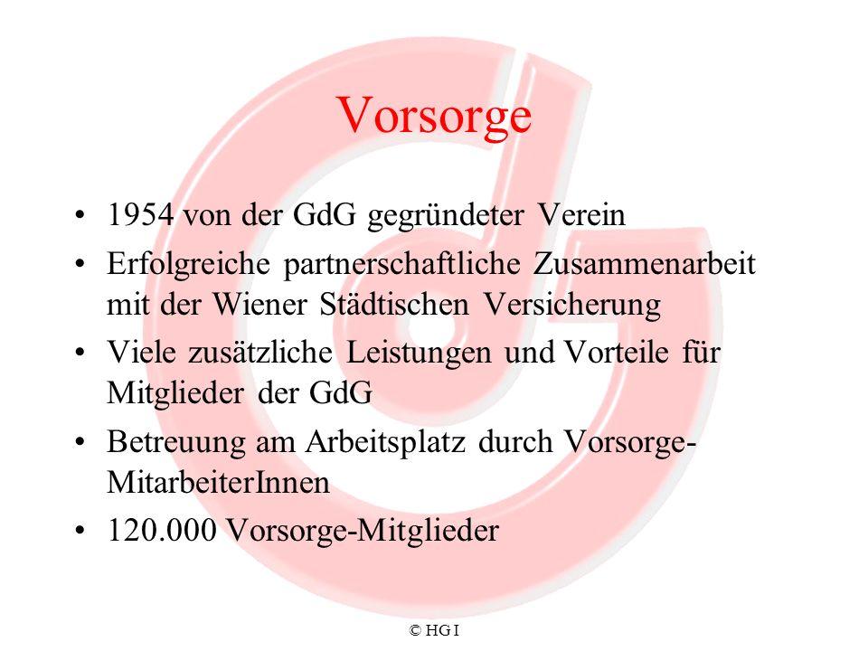 Vorsorge 1954 von der GdG gegründeter Verein