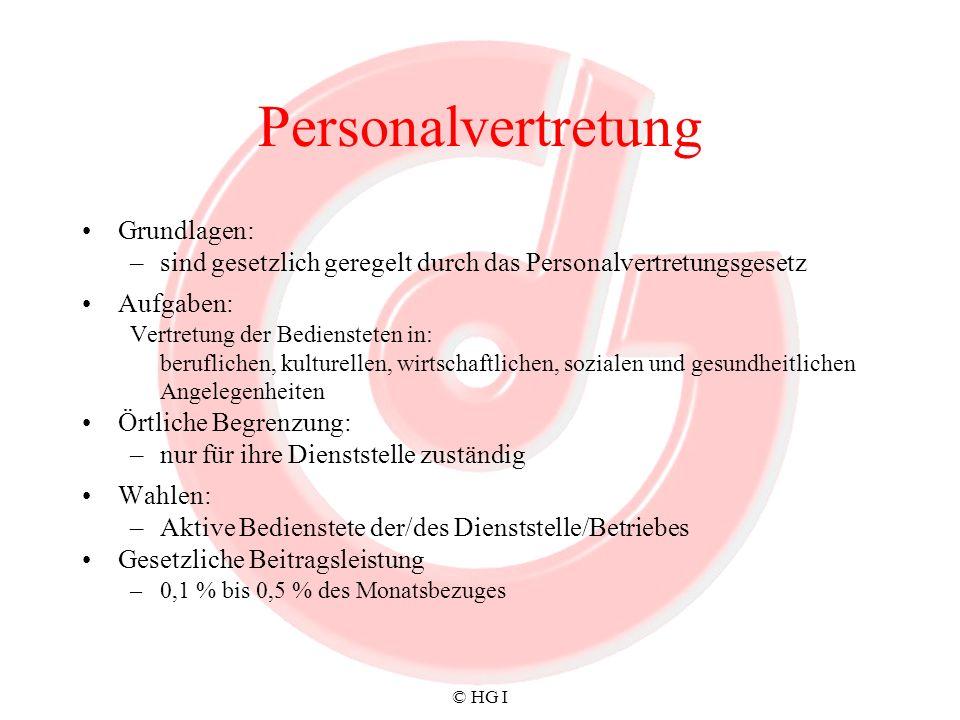 Personalvertretung Grundlagen: