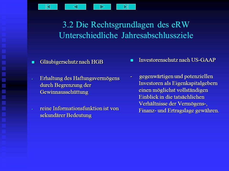 3.2 Die Rechtsgrundlagen des eRW Unterschiedliche Jahresabschlussziele