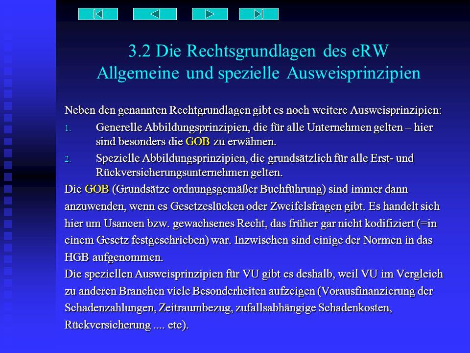3.2 Die Rechtsgrundlagen des eRW Allgemeine und spezielle Ausweisprinzipien