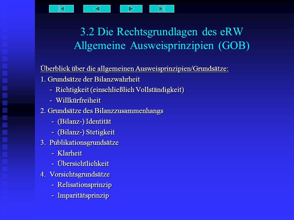 3.2 Die Rechtsgrundlagen des eRW Allgemeine Ausweisprinzipien (GOB)