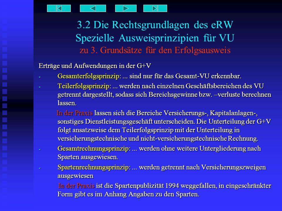 3.2 Die Rechtsgrundlagen des eRW Spezielle Ausweisprinzipien für VU zu 3. Grundsätze für den Erfolgsausweis