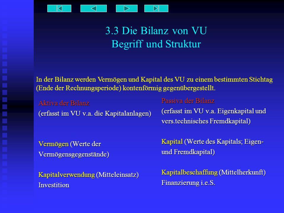 3.3 Die Bilanz von VU Begriff und Struktur