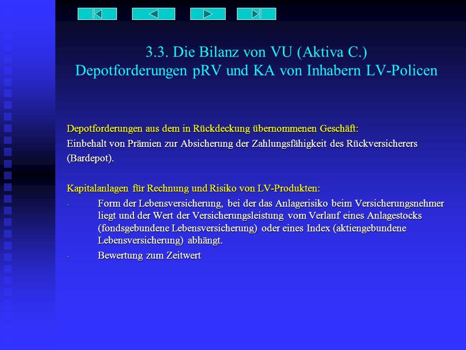 3. 3. Die Bilanz von VU (Aktiva C