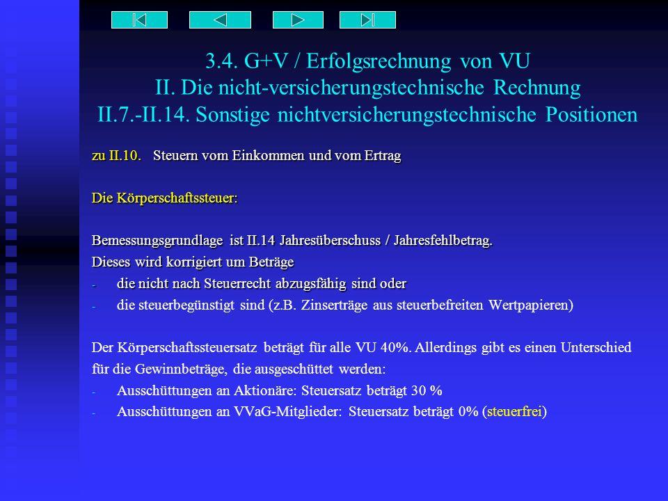 3. 4. G+V / Erfolgsrechnung von VU II
