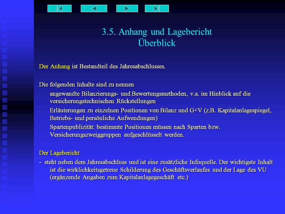 3.5. Anhang und Lagebericht Überblick