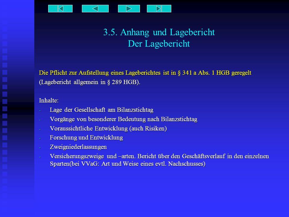3.5. Anhang und Lagebericht Der Lagebericht