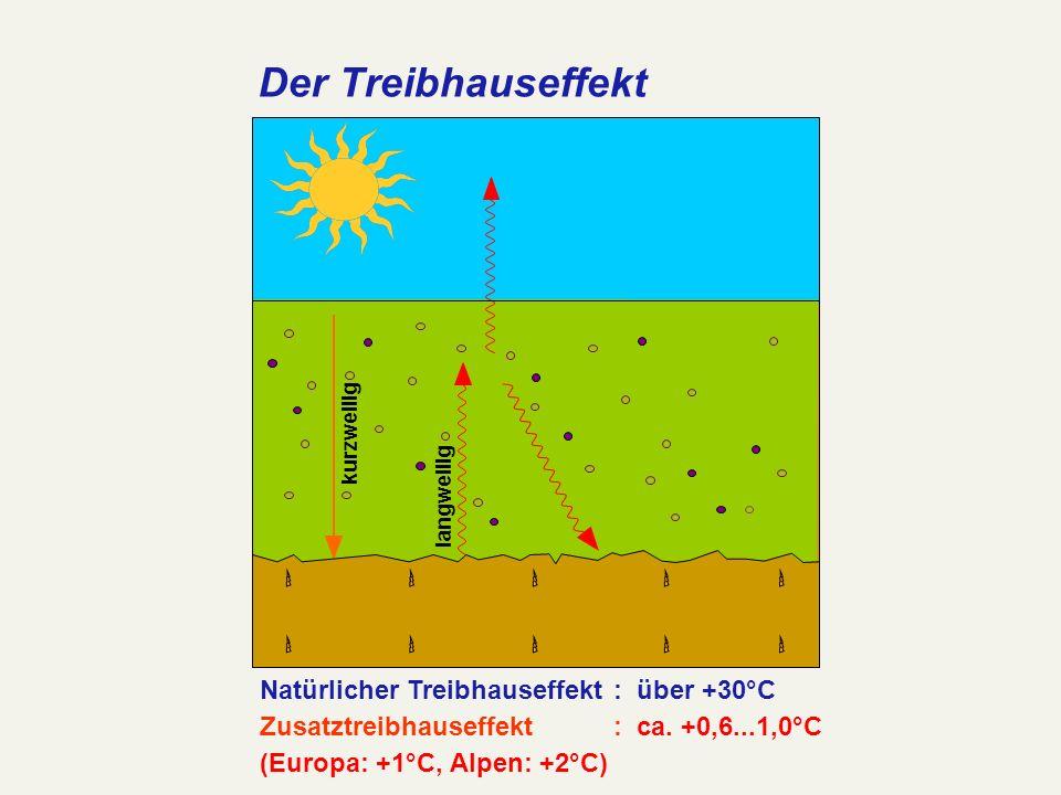 Der Treibhauseffekt Natürlicher Treibhauseffekt : über +30°C