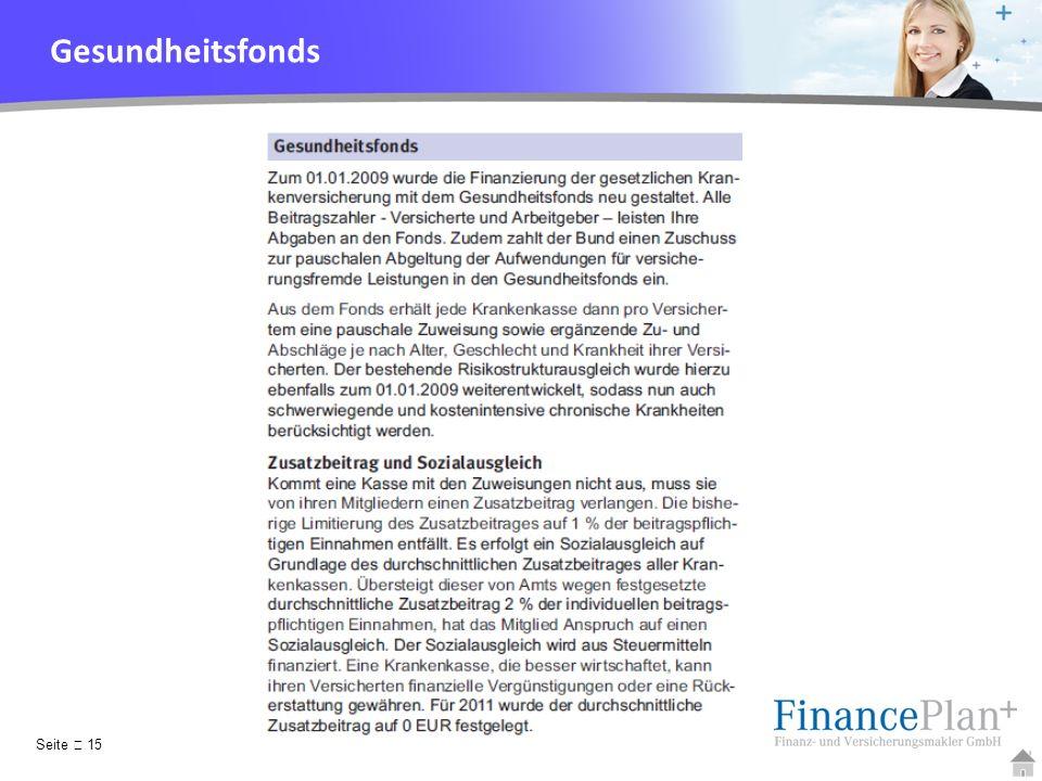 Gesundheitsfonds Seite  15