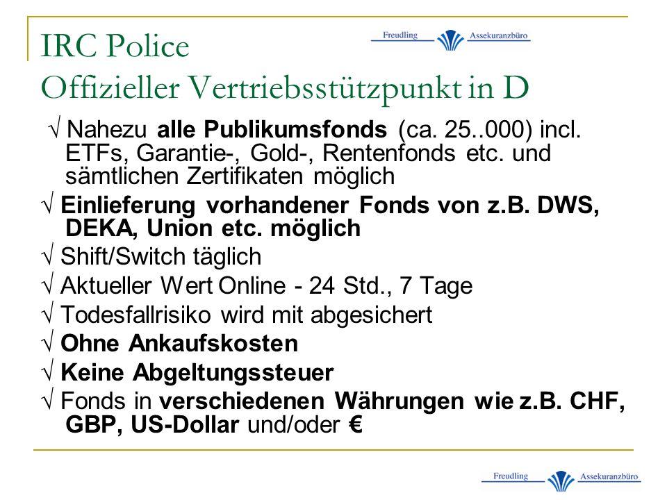 IRC Police Offizieller Vertriebsstützpunkt in D