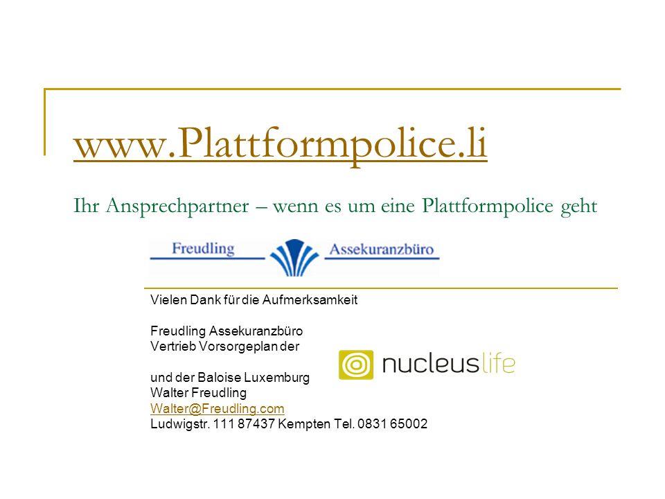 www.Plattformpolice.li Ihr Ansprechpartner – wenn es um eine Plattformpolice geht