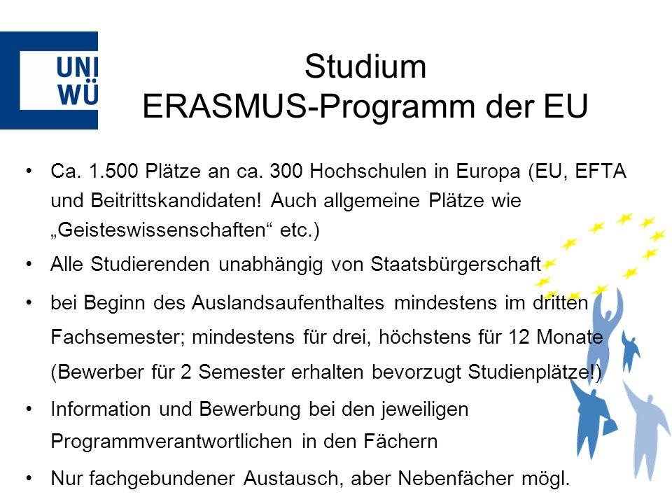 Studium ERASMUS-Programm der EU