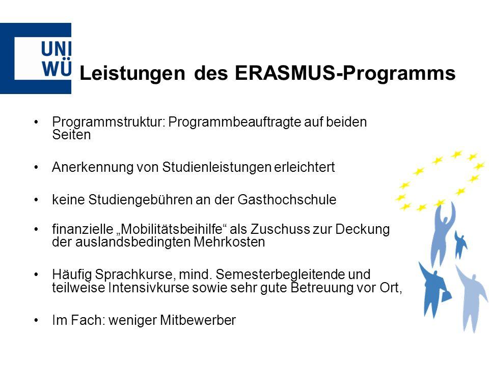 Leistungen des ERASMUS-Programms