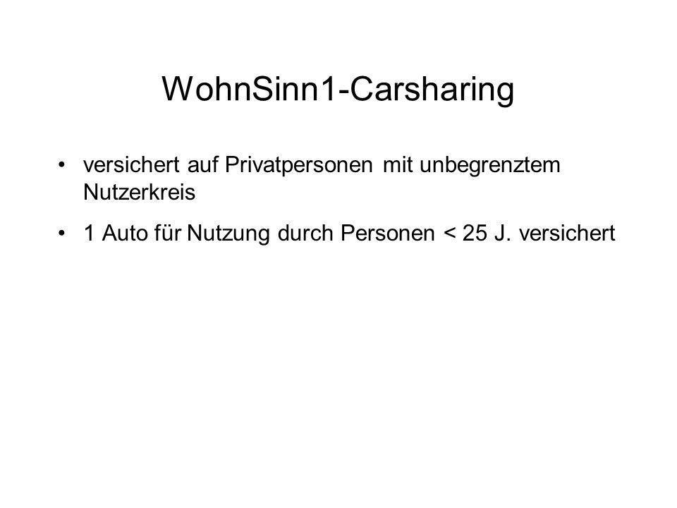 WohnSinn1-Carsharing versichert auf Privatpersonen mit unbegrenztem Nutzerkreis.