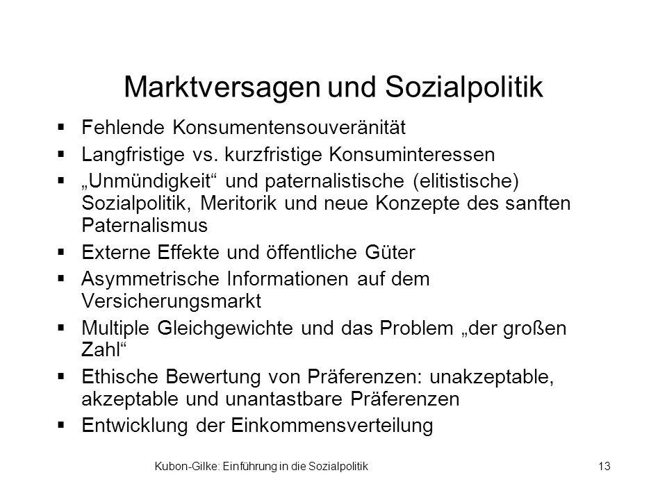 Marktversagen und Sozialpolitik
