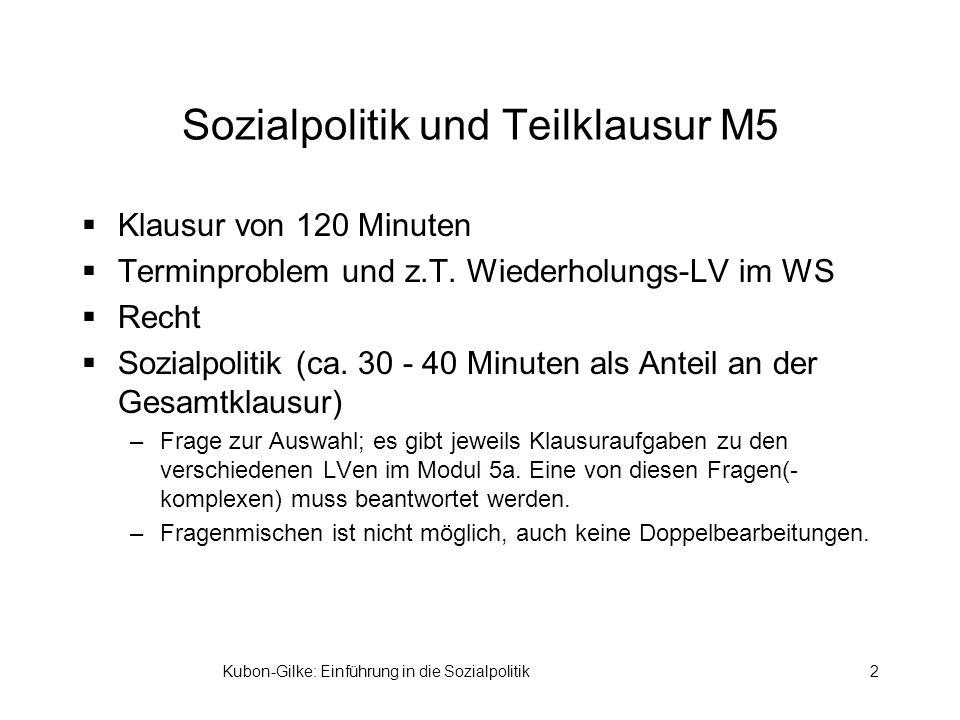 Sozialpolitik und Teilklausur M5