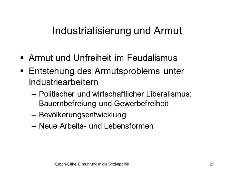 Industrialisierung und Armut