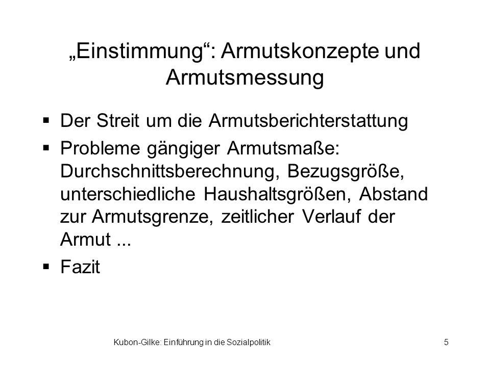 """""""Einstimmung : Armutskonzepte und Armutsmessung"""