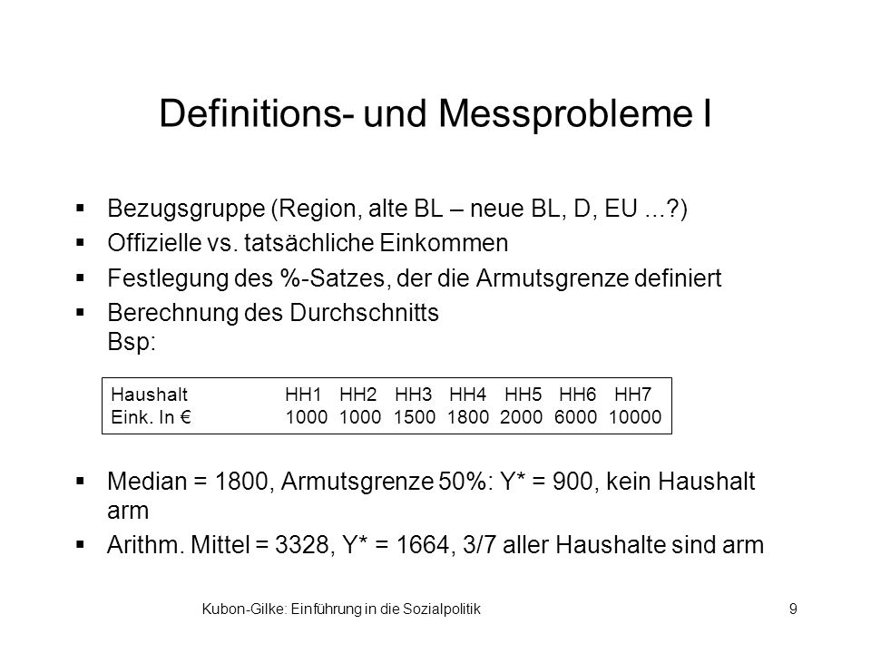 Definitions- und Messprobleme I