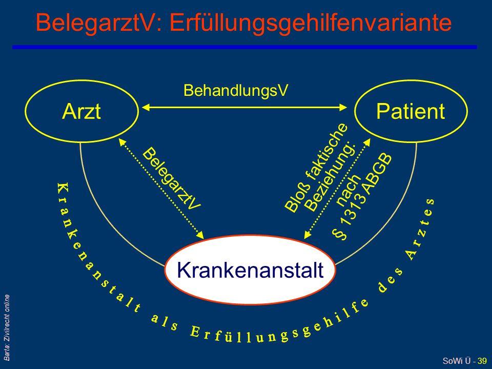 BelegarztV: Erfüllungsgehilfenvariante