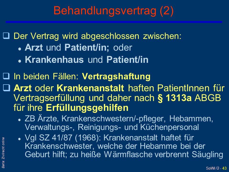 Behandlungsvertrag (2)