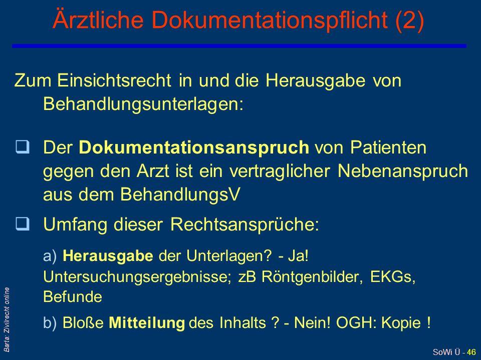 Ärztliche Dokumentationspflicht (2)